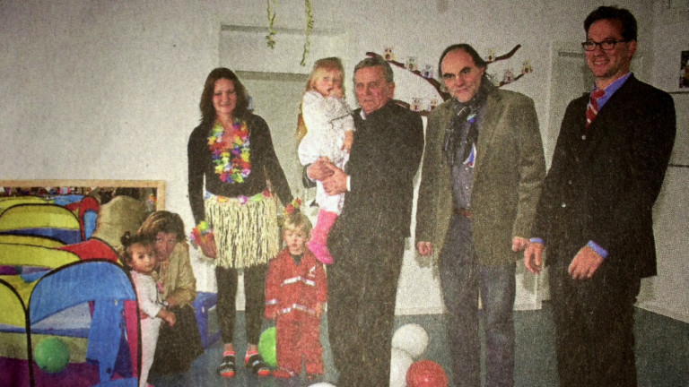 Staatssekretär Florian Pronold in der Kinderkrippe Reisbach (Foto Landauer Zeitung)